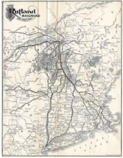 Rutland Railroad map