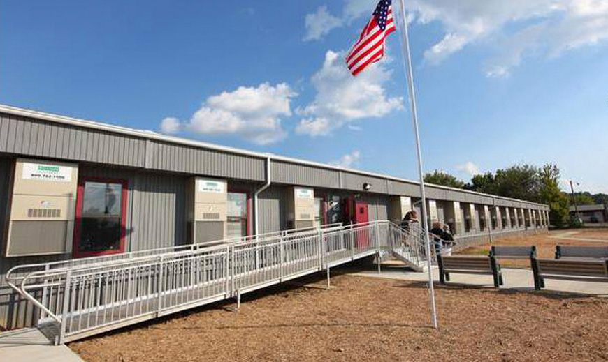 Kenova Elementary's modular unit trailers sat on the field from 2011 until 2017