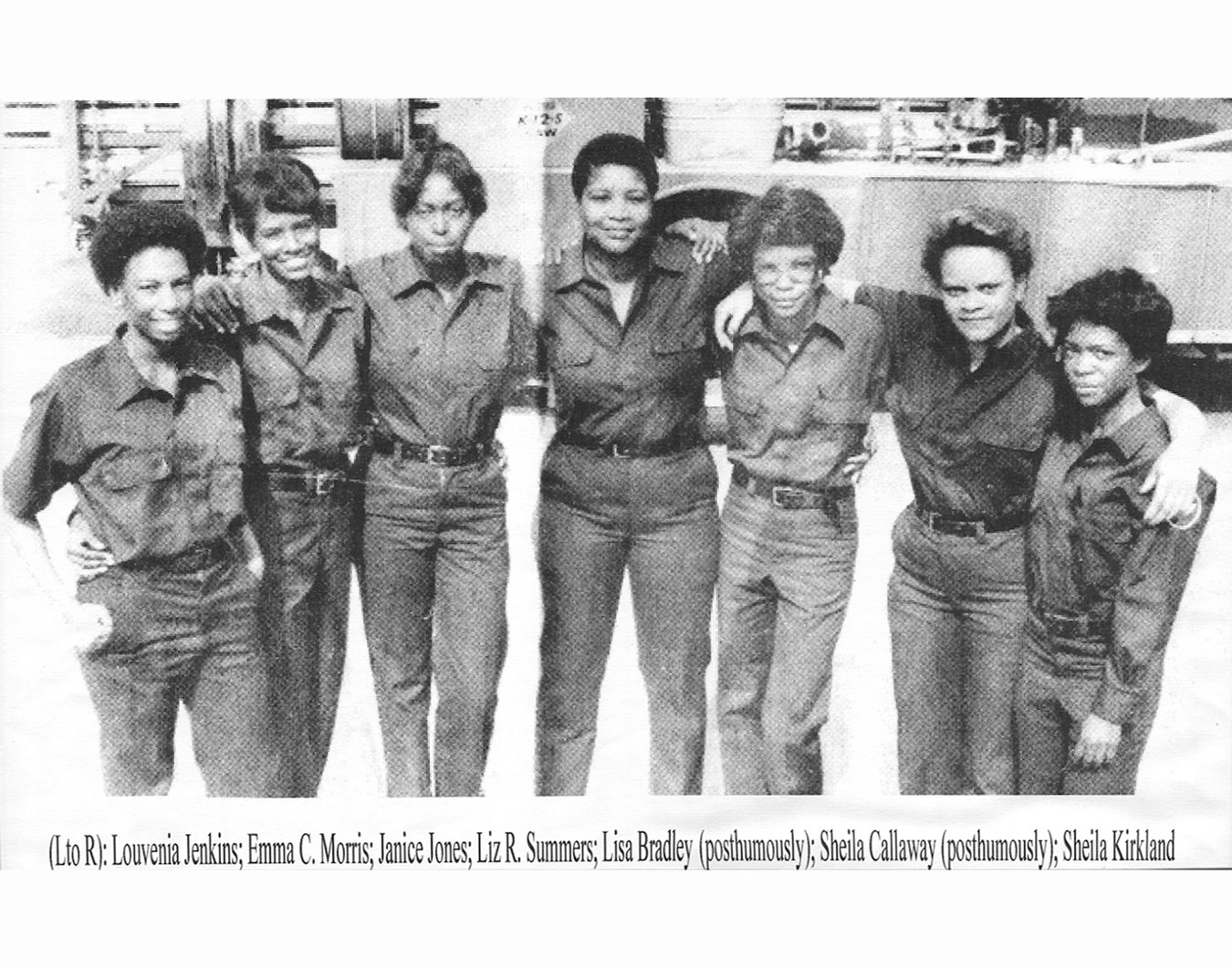 The first African American female firefighters of Fire Station 16. They called each others sisters and supported each other every day in order to survive.