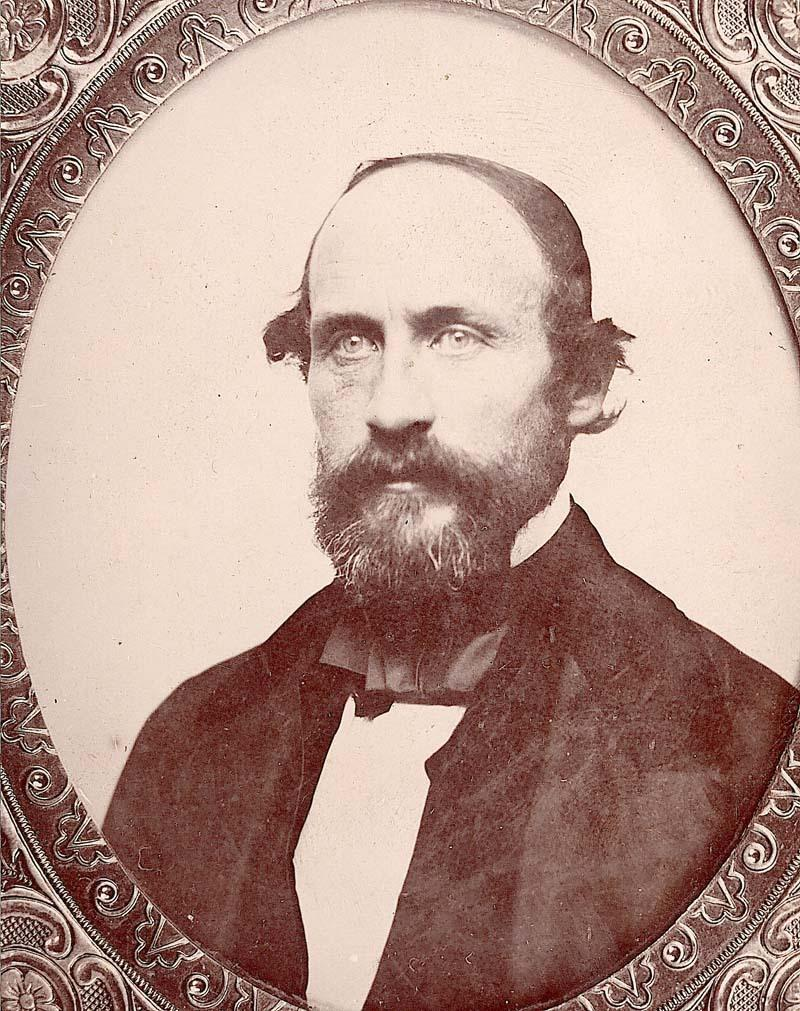 Dr. Charles Robinson, one of the leaders of the Sacramento Settlers Association. Wounded during the shootout, indictments against him were dropped. He later became the first Governor of Kansas (and first governor in U.S. history to be impeached).