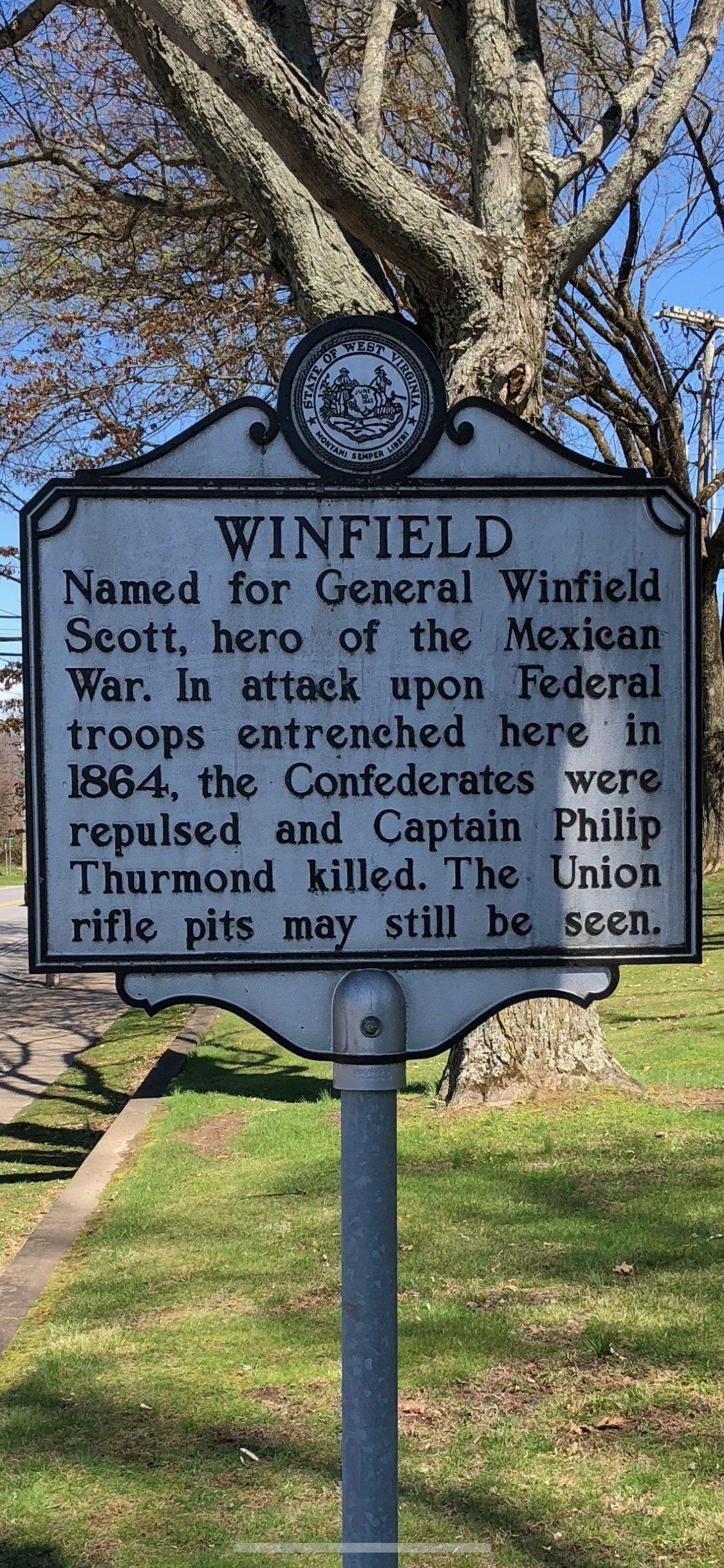Winfield History Marker