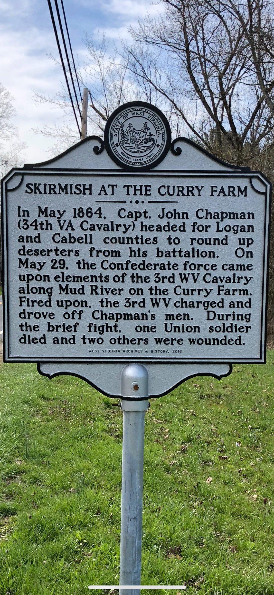 Curry Farm Historical Marker