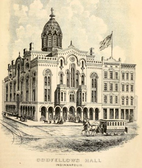 Sketch of Odd Fellows Hall from 1870 book (Holloway p. 99)