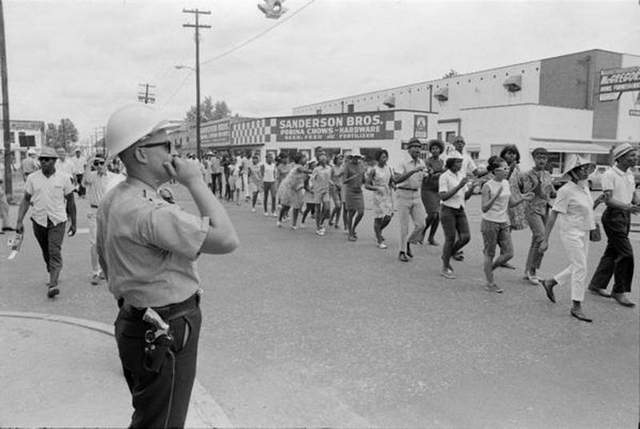 A civil rights march in Hattiesburg, July 1967