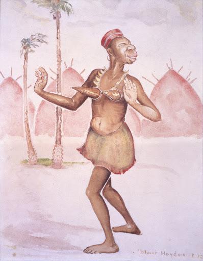 Title: African Dancer Creator: Palmer C. Hayden Date Created: 1932 Location: Museum of African American Art, Los Angeles