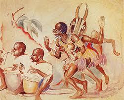 Title: African Dancers Creator: Palmer C. Hayden Date Created: 1932 Location: Museum of African American Art, Los Angeles