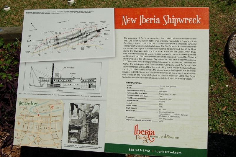 The historical marker at the site of the shipwreck. This explains much of the ship's history.