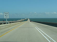 A picture from a commuter heading north. Something spooky about the causeway: for the middle 8 miles, one would not see land in any direction.