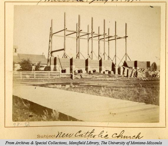 St. Francis Xavier Under Construction, 1891