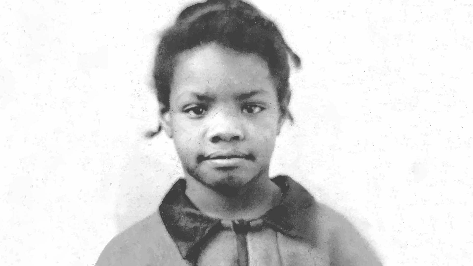 Maya Angelou as a young child. She was sent from home to home for most of her traumatic childhood.