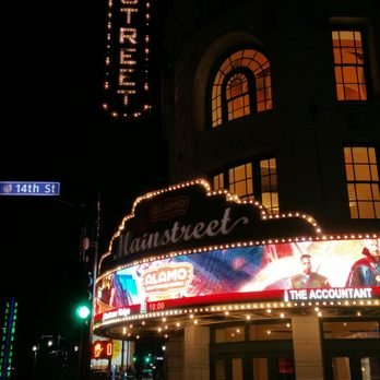 Mainstreet Theater at night
