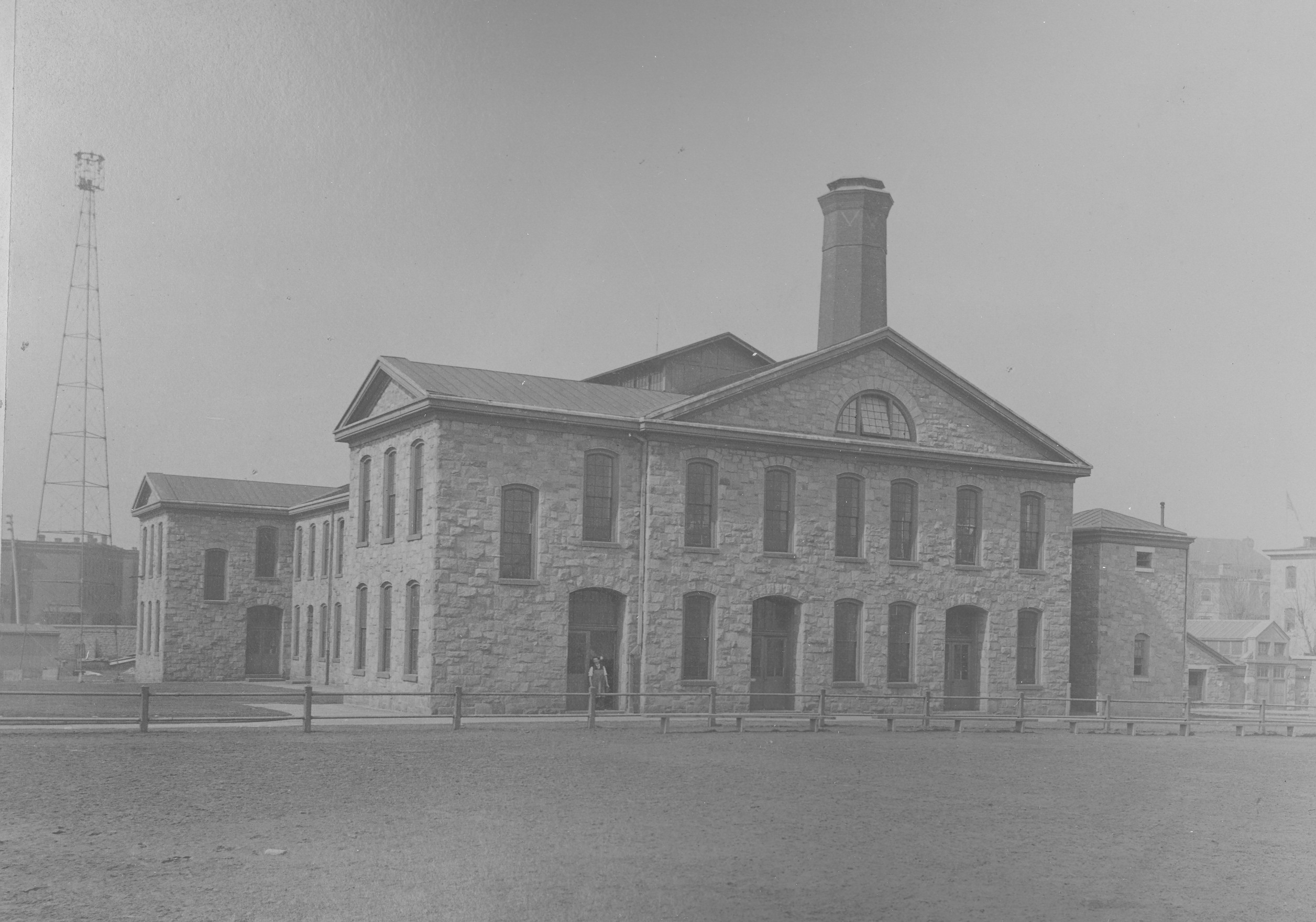 Girard College mechanical school. Photo taken in 1893, prior to 20th centur expansion.