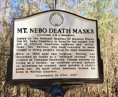Mt. Nebo Death Masks Marker