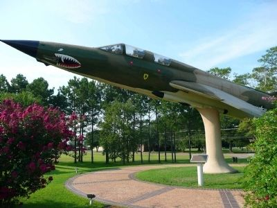 This is the F-105 Thunderchief that they have on display at Flying Tiger Heritage Park.