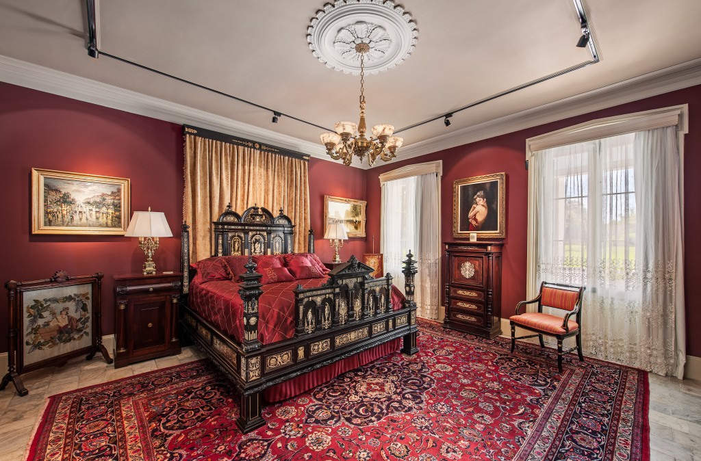 Main bedroom in the mansion
