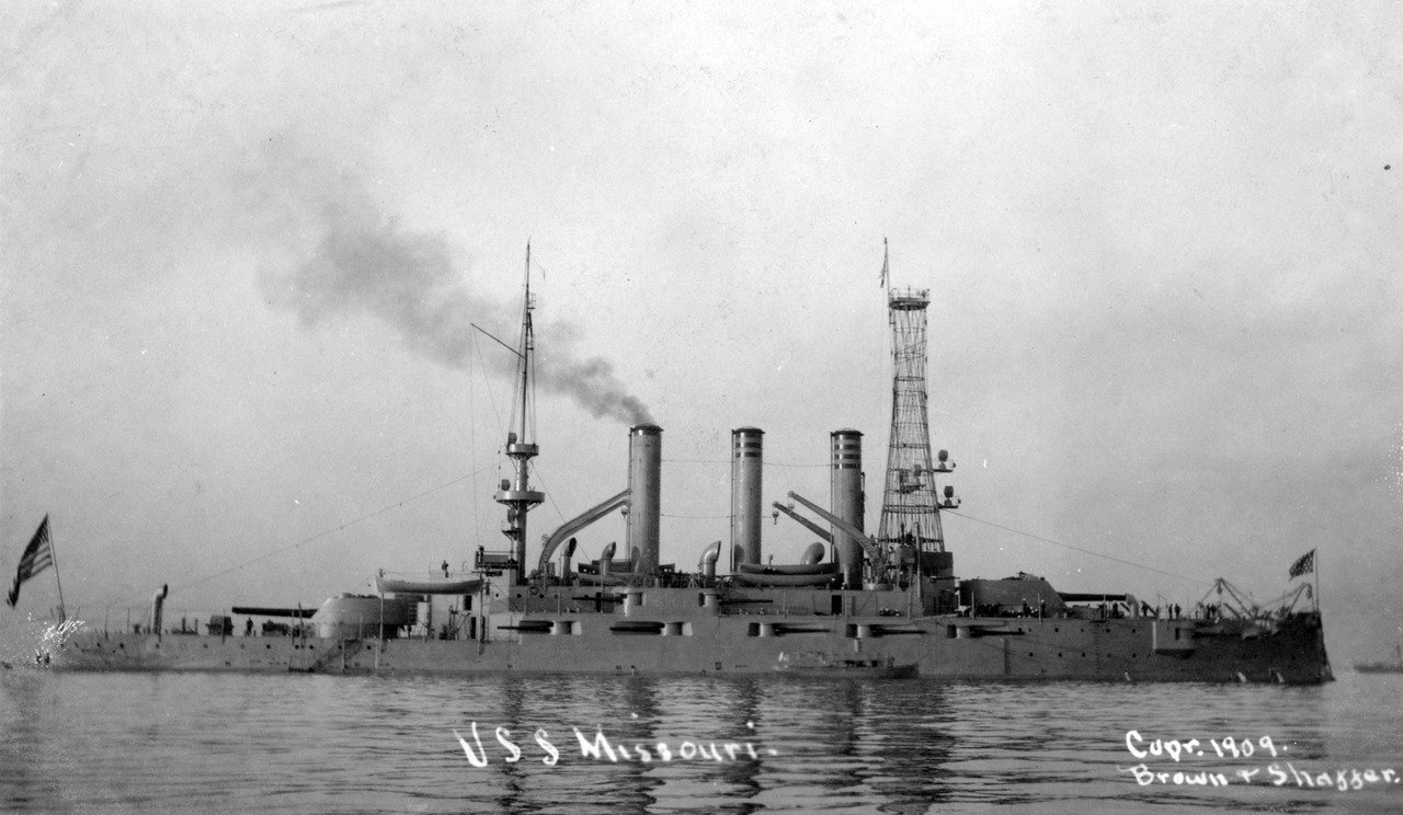 U.S.S. Missouri - 1909