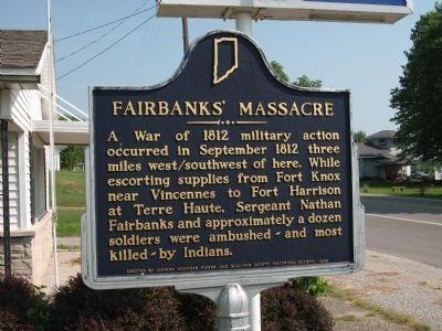 The Fairbanks' Massacre describing the events that took place.
