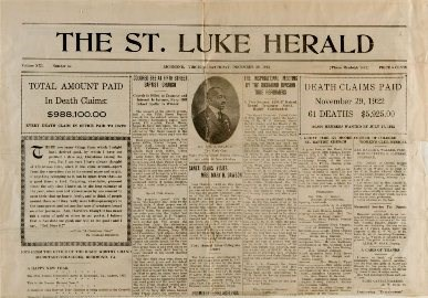 The St. Luke Herald newspaper founded by Maggie L. Walker in 1902.