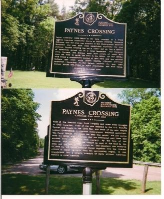 Here is the photo of the historical landmarker at Paynes Crossing. The landmark lies on the road near the post office.