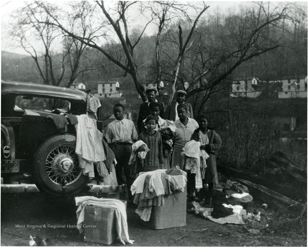 Undated photo of African American family at Scott's Run.