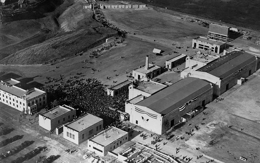 Fox studios in 1928. Photo from the 20th Century Fox website.