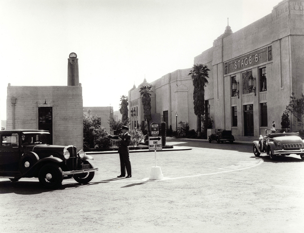 Fox studios backlot in the 1930s. From Variety.
