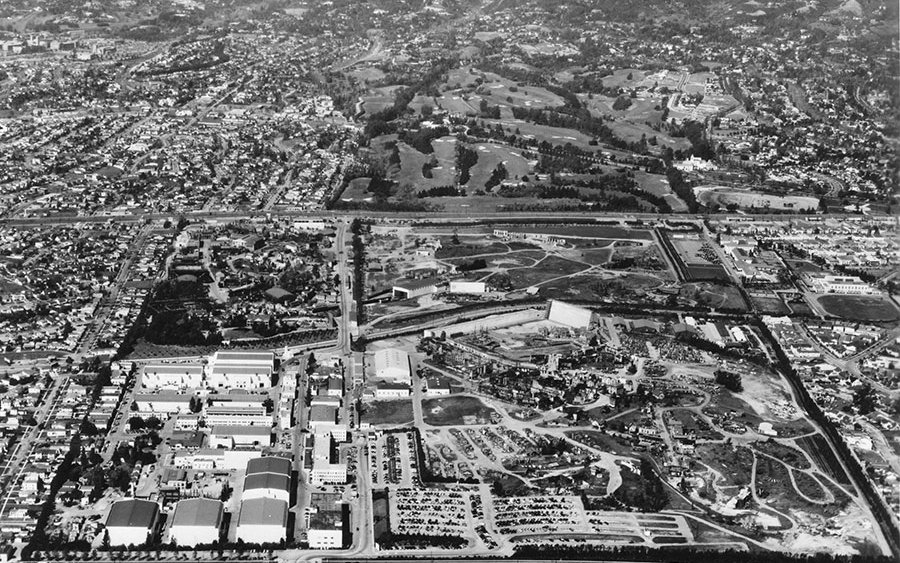 Fox studios in 1950.Photo from the 20th Century Fox website.
