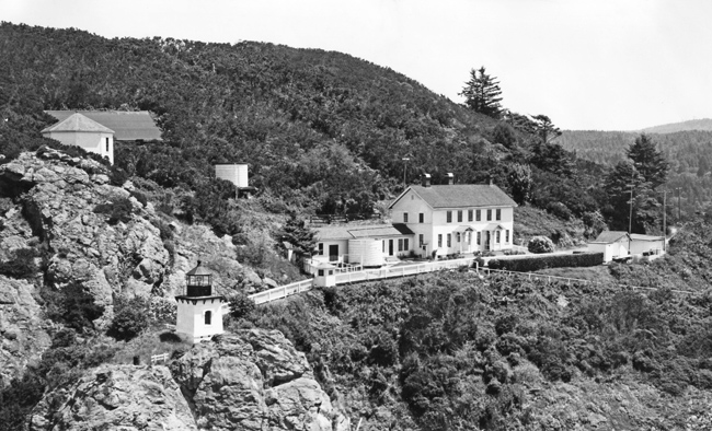 Trinidad Head Light station as it appeared in 1955.