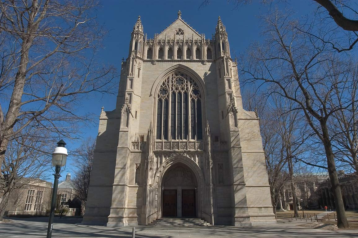 2011 photo of the entrance to the Princeton University Chapel