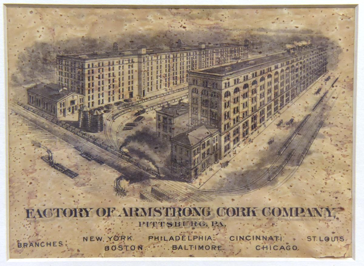 Blueprint Image of the Armstrong Cork Factory