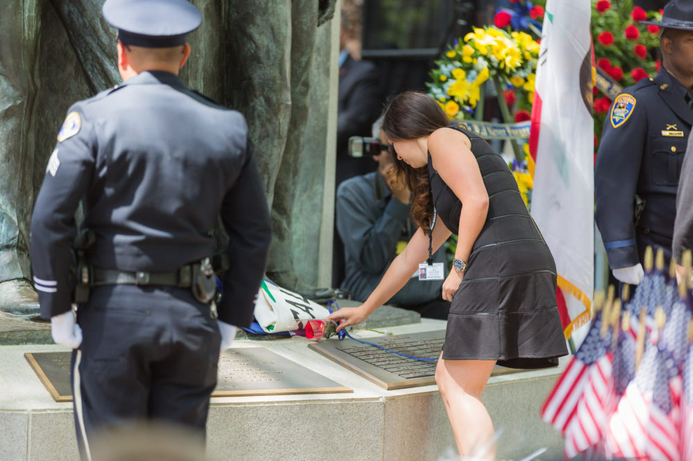 A two-day ceremony is held each year at the memorial on May 8, designated by state law as California Peace Officers' Memorial Day.