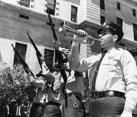 Peace Officers in Philadelphia commemorate national Peace Officers' Memorial Day (May 15) in 1965, three years after President John F. Kennedy made the day one of official national recognition (Temple University Libraries).