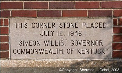 Corner stone for the building