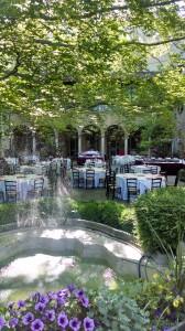 Photograph of the gardens of the Twentieth Century Club.