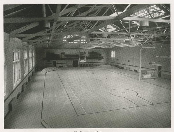 The interior of the Men's Gymnasium during its heyday.