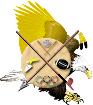 THE EAGLE: Signifies bravery and courage of all the winged creatures, the eagle soars closest to the Great Spirit. The eagle is also the emblem of America.  THE CIRCLE: Signifies unity among people. It is unending.  THE SPEAR: Represents an ancient tool.