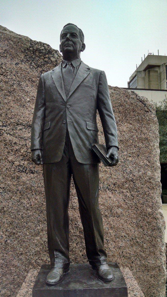 Close up of James E. Rudder Statue