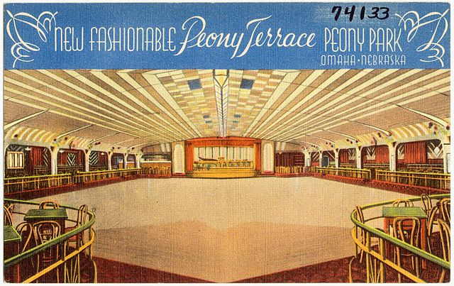 Illustration of the inside of the Royal Terrace Ballroom  https://commons.wikimedia.org/w/index.php?curid=40972562