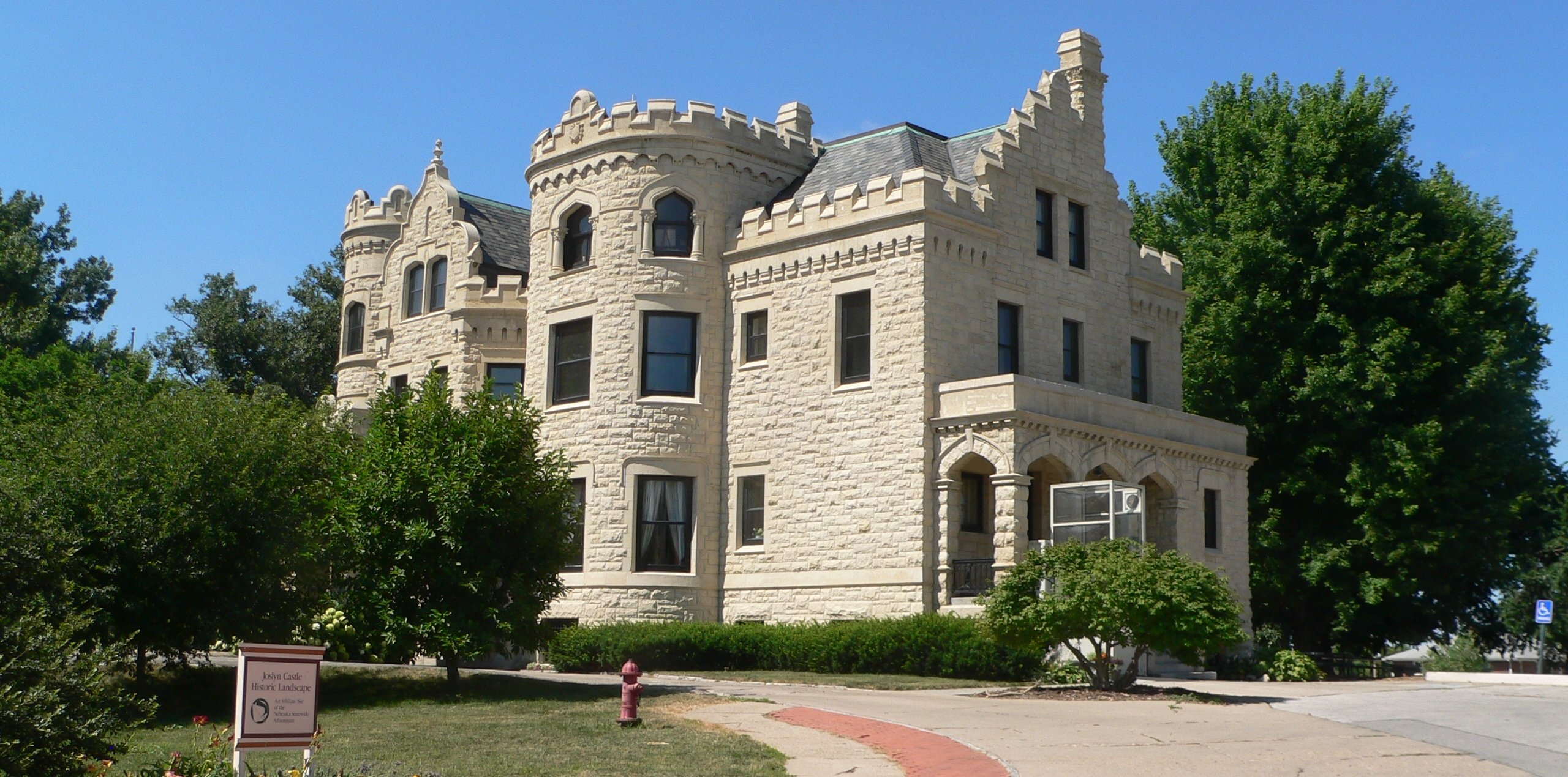 View of the northeast side of the Joslyn Castle