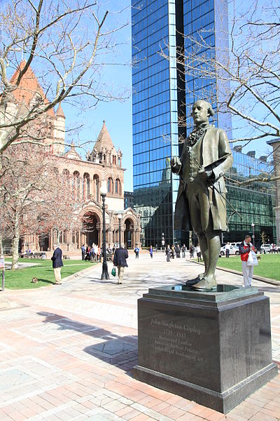 The Copley Statue and Copley Square behind it