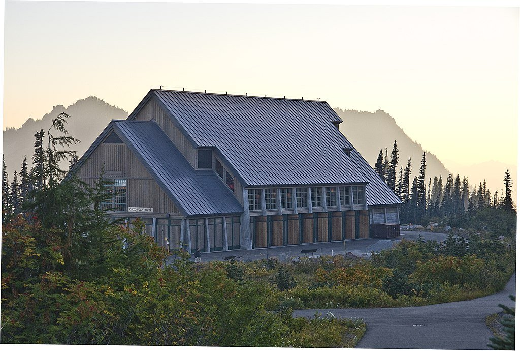 The Henry M Jackson Memorial Visitor Center was built in 2008 and is located on Mount Rainer's south slope.