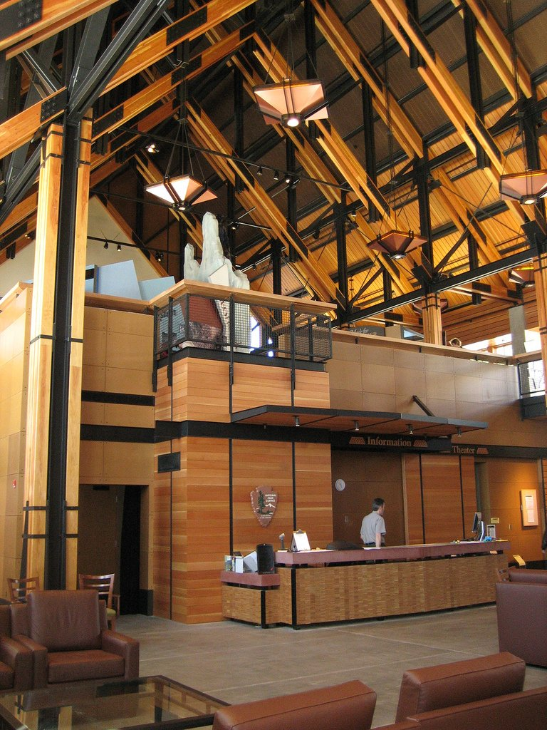 Interior view of the Henry M. Jackson Memorial Visitor Center.