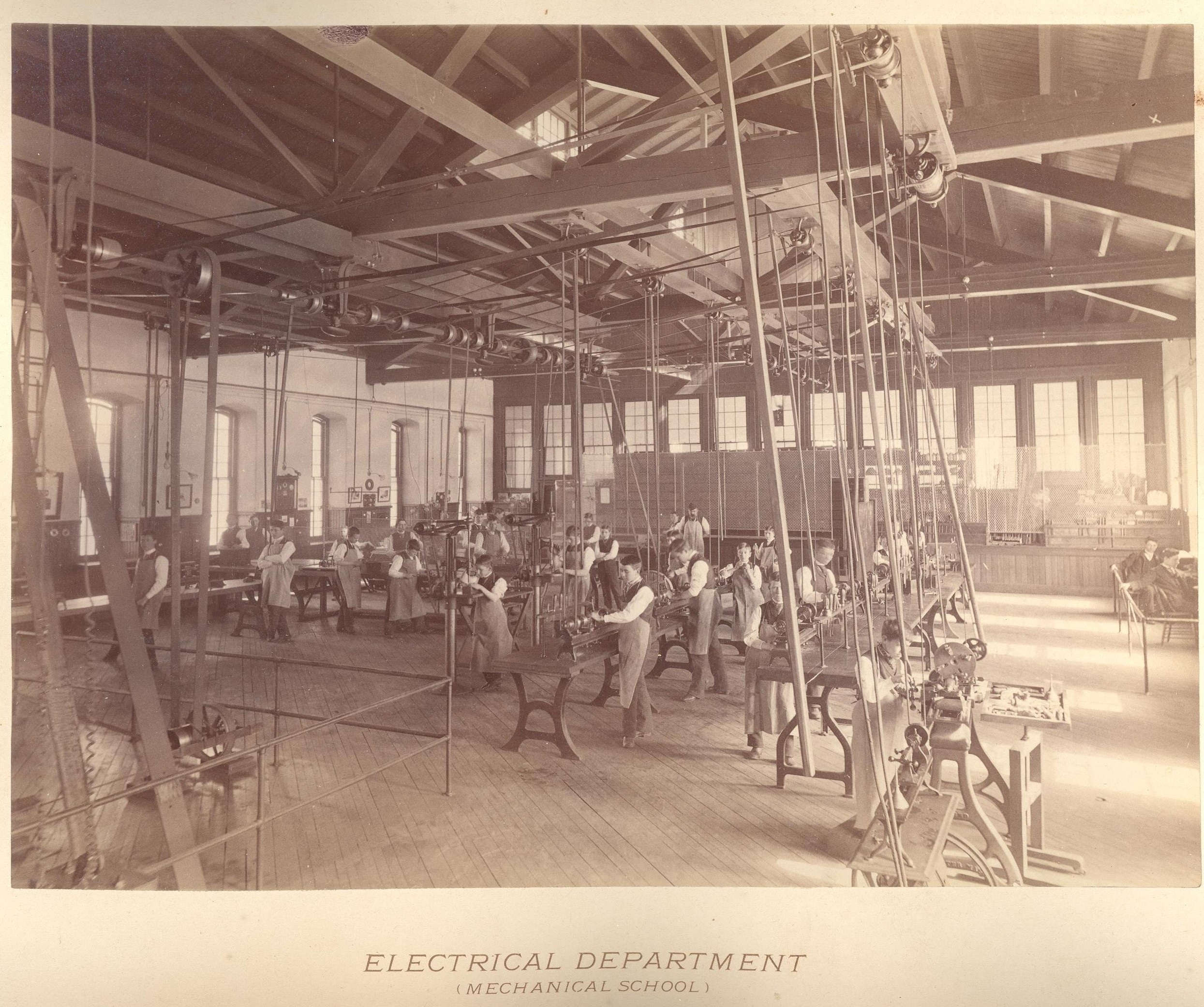 Electrical department, 1893