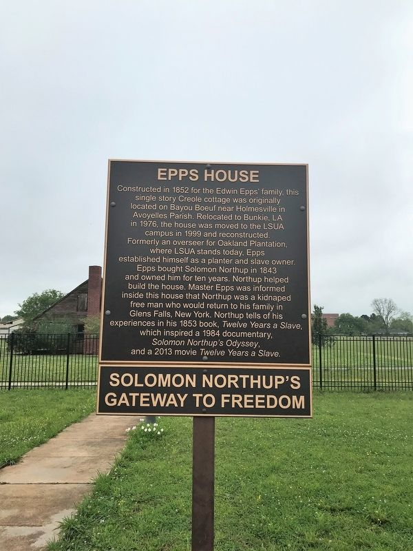 This historical marker is entitled Epps House: Solomon Northup's Gateway to Freedom