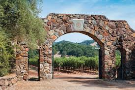 Pictured is the gate/ entrance to the vineyards.
