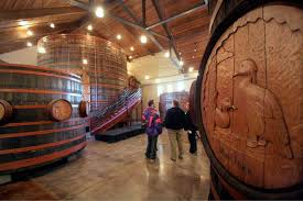 Pictured is inside of the winery. Barrels are still on display in the museum.