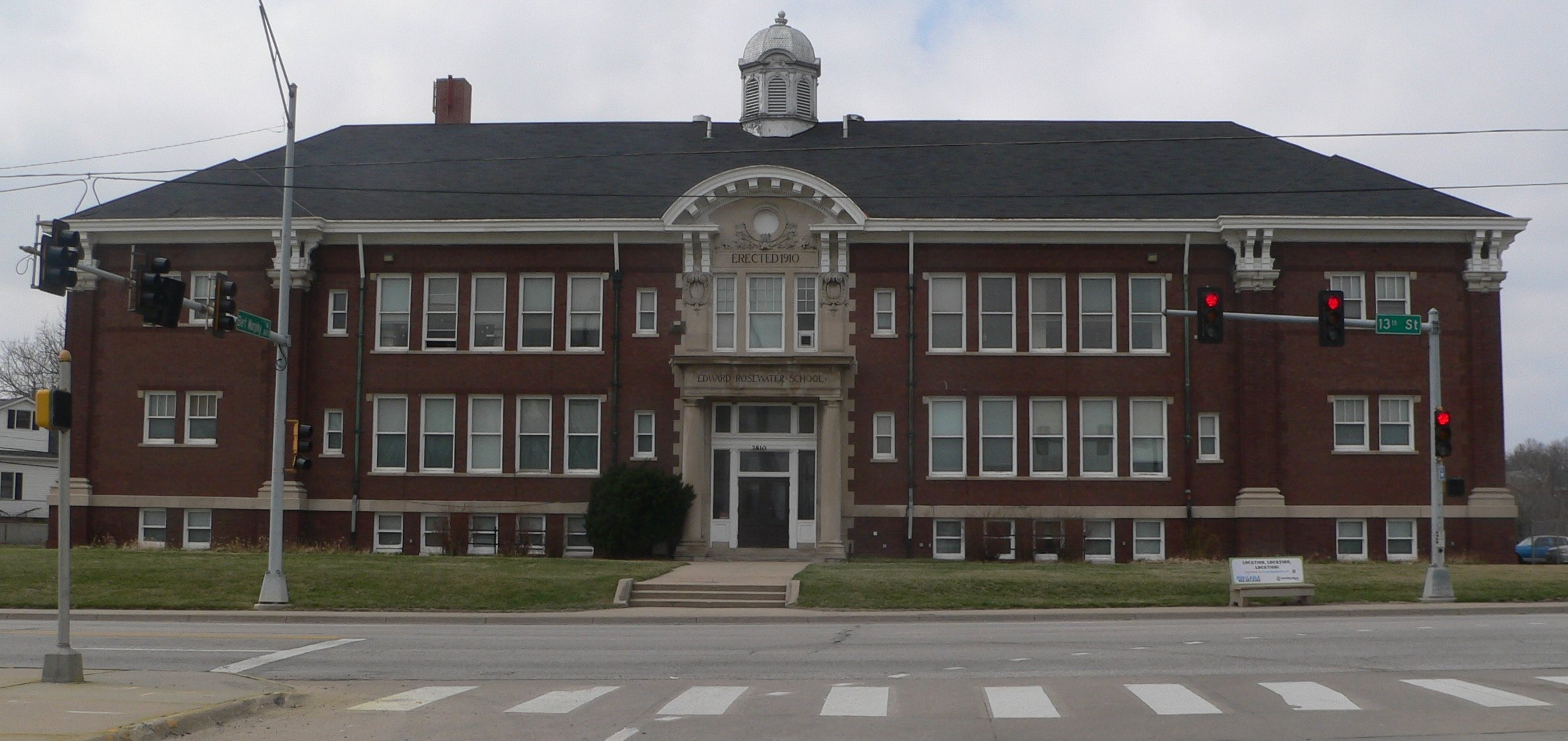 View of Rosewater School from 13th Street.