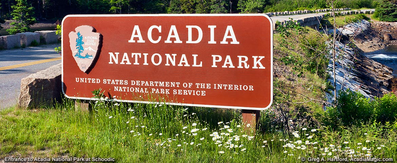 Acadia National Park Entrance Sign
