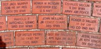 Bricks with names of loved ones, these bricks helped fund the memorial