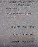 Men who served in Desert Strom, Iraqi Freedom, Lebanon, Grenada, and Panama